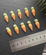 carrot cupcake toppers