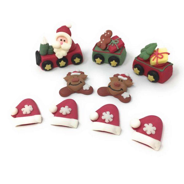 santa train decoration 2
