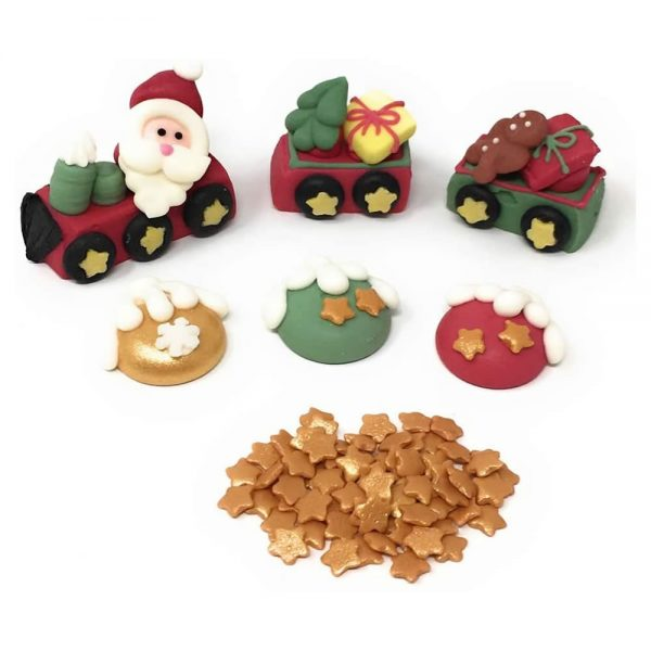 Santa Train Cake Topper