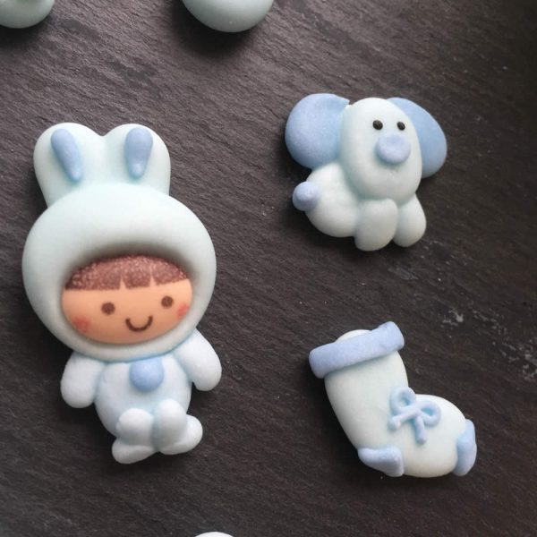 baby blue cupcake toppers