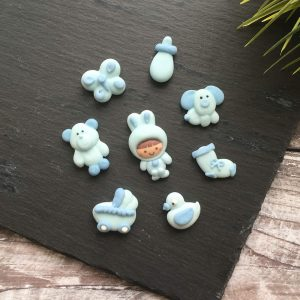 baby blue edible toppers