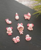 baby pink cupcake toppers