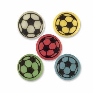 coloured footballs