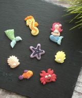 mermaid cake toppers decorations