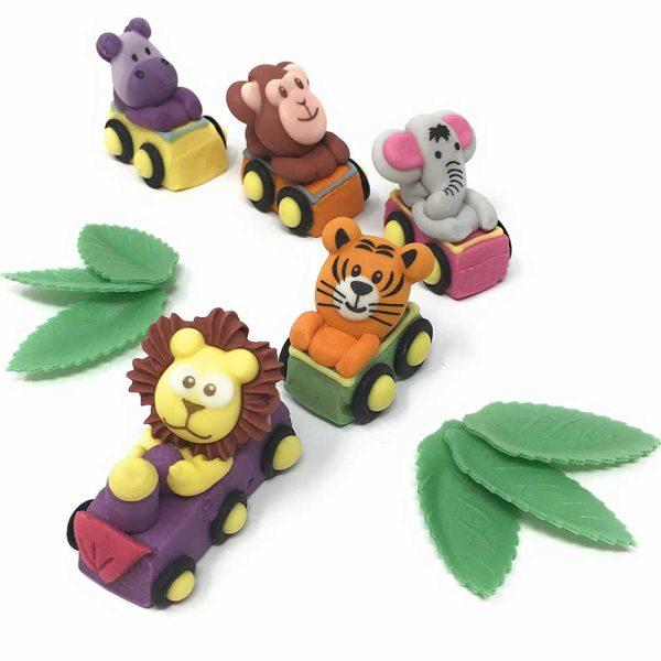 safari animal train cake decorations