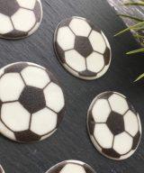 sugar plaque footballs