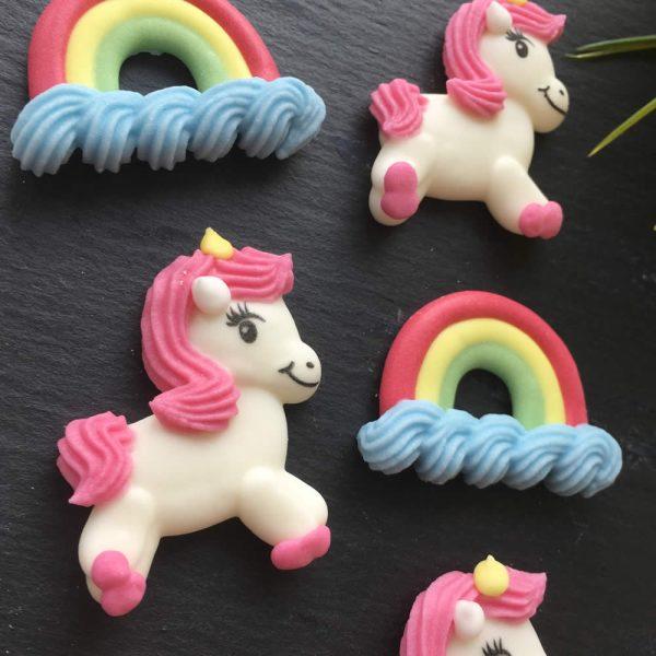 unicorn rainbow cake decorations