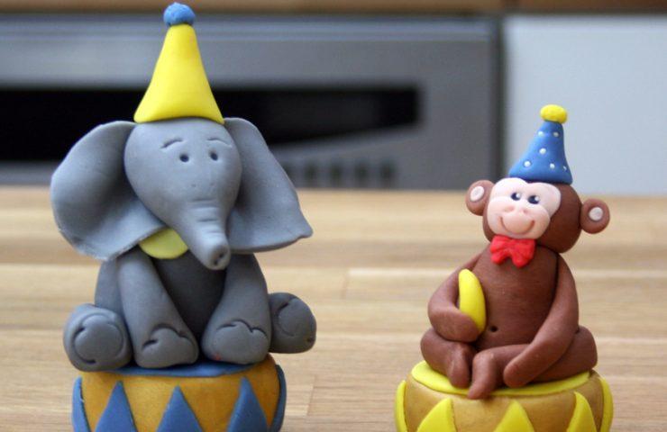 Monkey Elephant Cake Toppers